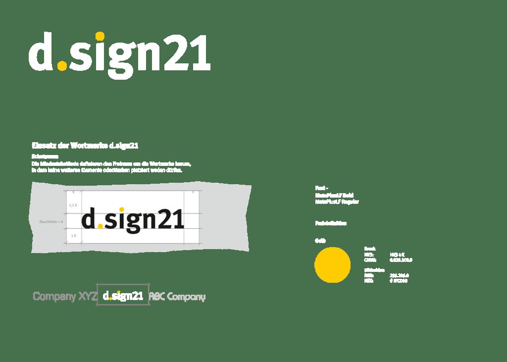 Logo Relaunch für d.sign21