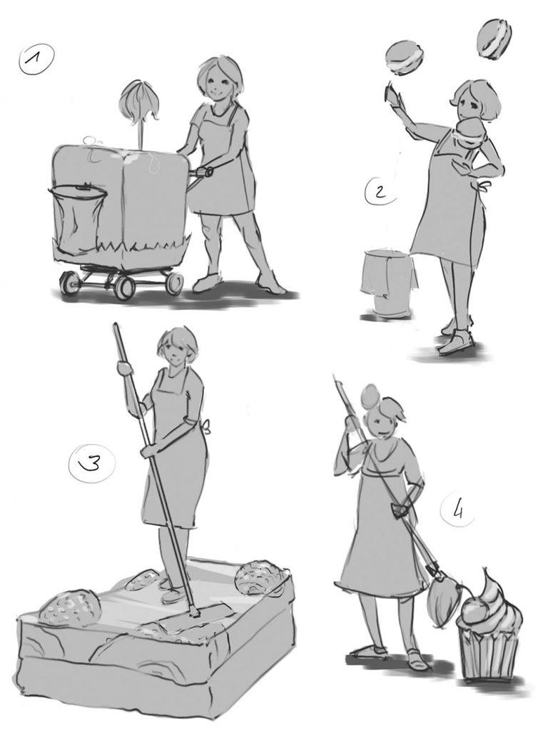 Illustration Reinigungskraft
