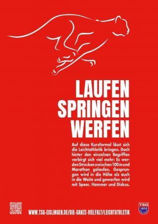 Plakat-Serie Leichtathletik</br> TSG Eislingen