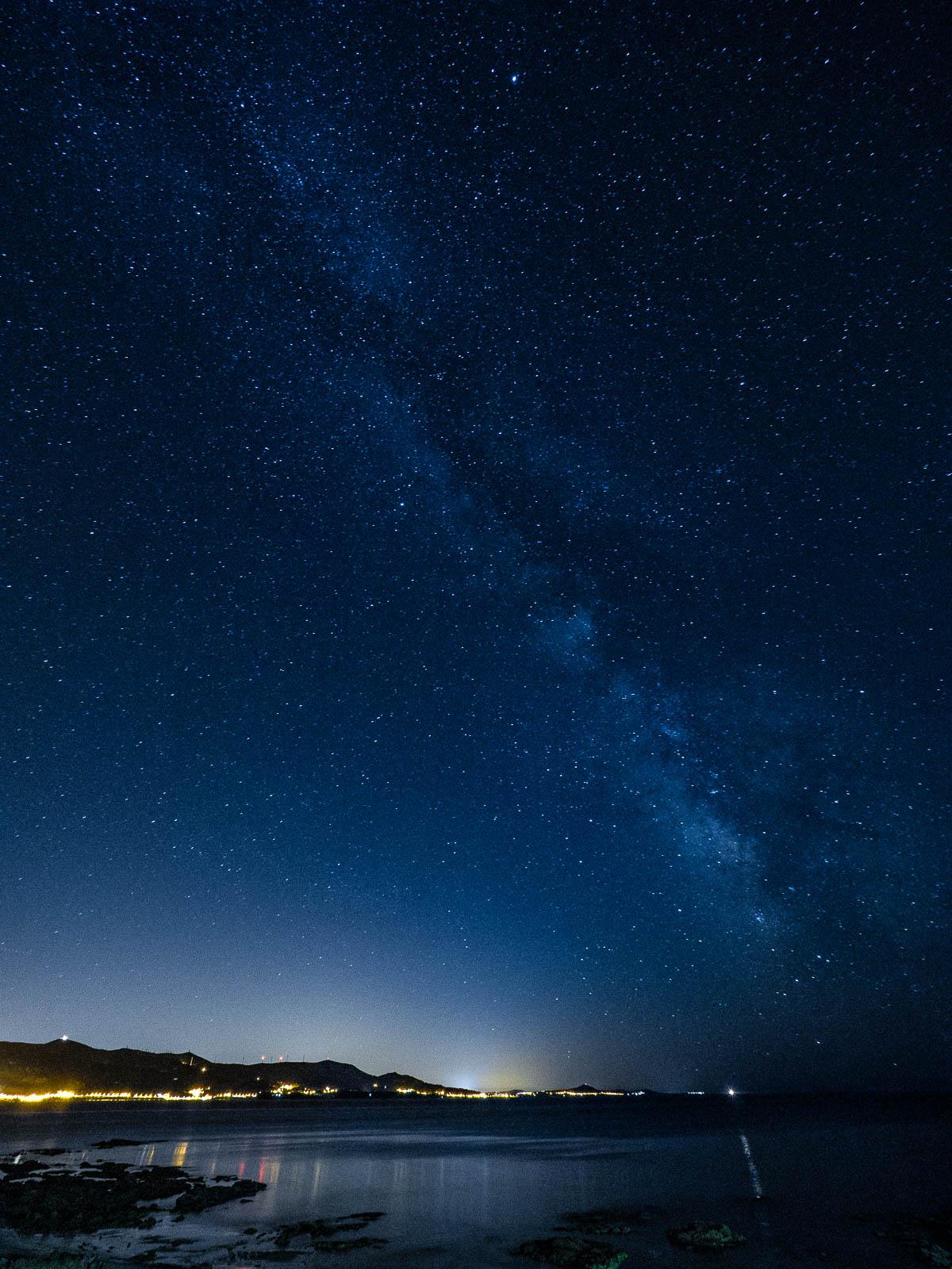 Milchstraße über Louro, Galicien